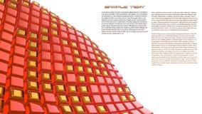 Roter Hintergrund der Abstraktion 3d Stockfotos