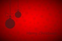 Roter Hintergrund der frohen Weihnachten Stockbilder