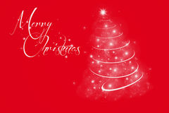 Roter Hintergrund der frohen Weihnachten Stockfotos