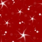 roter Hintergrund des Musters mit Sternen vektor abbildung
