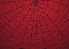 Roter Hintergrund des Spinnennetzes Taube als Symbol der Liebe, pease lizenzfreie abbildung