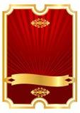 Roter Hintergrund für foodand Getränk Stockbild