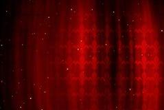 Roter Hintergrund mit Abbildung einer königlichen Lilie Stockbilder