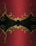 Roter Hintergrund mit antikem Rahmen Element für Entwurf Schablone für Entwurf kopieren Sie Raum für Anzeigenbroschüre oder Mitte Stockbild