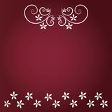 Roter Hintergrund mit Blumen- und weißer Blume Stockbild