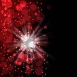 Roter Hintergrund mit bokeh Lizenzfreie Stockfotografie