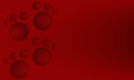 roter Hintergrund mit netten Abdrücken Stockfoto