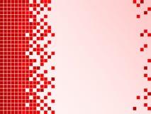 Roter Hintergrund mit Pixeln Stockfotos