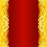 Roter Hintergrund mit rosafarbenem Rand vektor abbildung