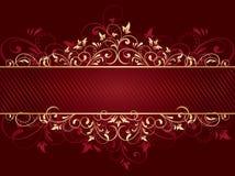 Roter Hintergrund mit Schablone Lizenzfreies Stockbild