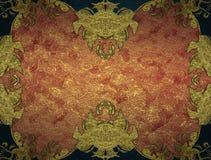 Roter Hintergrund mit Verzierung Element für Entwurf Schablone für Entwurf kopieren Sie Raum für Anzeigenbroschüre oder Mitteilun Stockfotografie