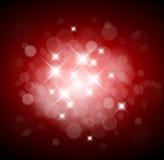 Roter Hintergrund mit weißen Leuchten Stockfotografie