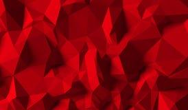 Roter Hintergrund von Dreiecken Lizenzfreie Abbildung