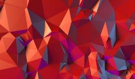 Roter Hintergrund von Dreiecken Vektor Abbildung