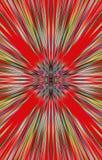 Roter Hintergrund von Farbstreifen läuft von der Mitte zu den Rändern auseinander Lizenzfreie Stockbilder