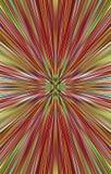 Roter Hintergrund von gewellten Farbstreifen läuft von der Mitte zu den Rändern auseinander Schöner Vektor Stockbild
