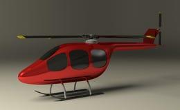 Roter Hubschrauber auf Grau lizenzfreie abbildung