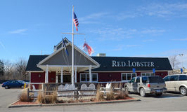 Roter Hummer-Ost-Ann Arbor-Speicher Stockfotos