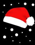Roter Hut von Weihnachtsmann Stockfotografie