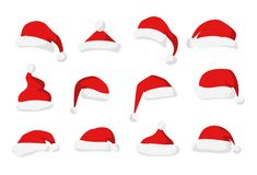 Roter Hutvektor Santa Clauss Stockbild
