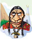 Roter Inder Stockbild