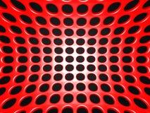 Roter industrieller metallischer Dots Shiny Background stock abbildung