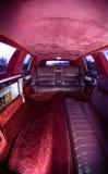 Roter Innenraum der Excalibur Limousine lizenzfreies stockfoto