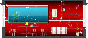 Roter Innenschmutz Stockfoto