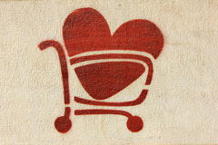 Roter Inner-Einkaufswagen Lizenzfreie Stockbilder