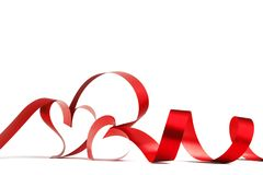 Roter Innerfarbbandbogen Stockbild