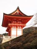 Roter japanischer Tempel Lizenzfreie Stockfotografie