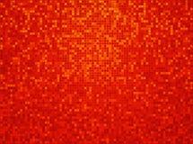 Roter karierter Hintergrund des orange Gelbs Stockfotos