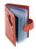 Roter Kartenhalter lizenzfreie stockbilder