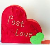 Roter Kasten Liebesbriefe Lizenzfreies Stockfoto