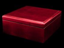 Roter Kasten mit gealtertem Lack Stockbild