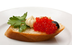 Roter Kaviar Lizenzfreies Stockbild