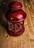 Roter Kerzenständer Stockfoto