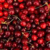 Roter Kirschhintergrund Rote reife köstliche Kirschen Lizenzfreie Stockfotografie