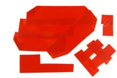 Roter Klebstreifen stockfoto