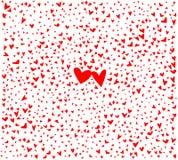 Roter kleiner Liebes-Herz-Hintergrund Stockbilder