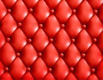 Roter Knopf-büscheliger lederner Hintergrund. Stockbilder