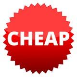 Roter Knopf billig lizenzfreie abbildung
