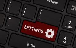 Roter Knopf Einstellungen Lizenzfreies Stockfoto