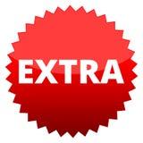 Roter Knopf Extra stock abbildung