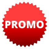 Roter Knopf Promo Stockfoto