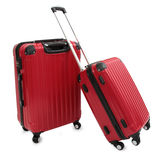 Roter Koffer Stockfoto
