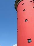 Roter Kontrollturm Stockbild