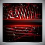 Roter Kratzerschmutzhintergrund Stockfotografie