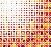 Roter Kreis-Retro- Hintergrund Stockbild