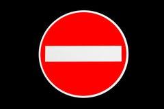 Rote Linie Halt Lizenzfreie Stockbilder